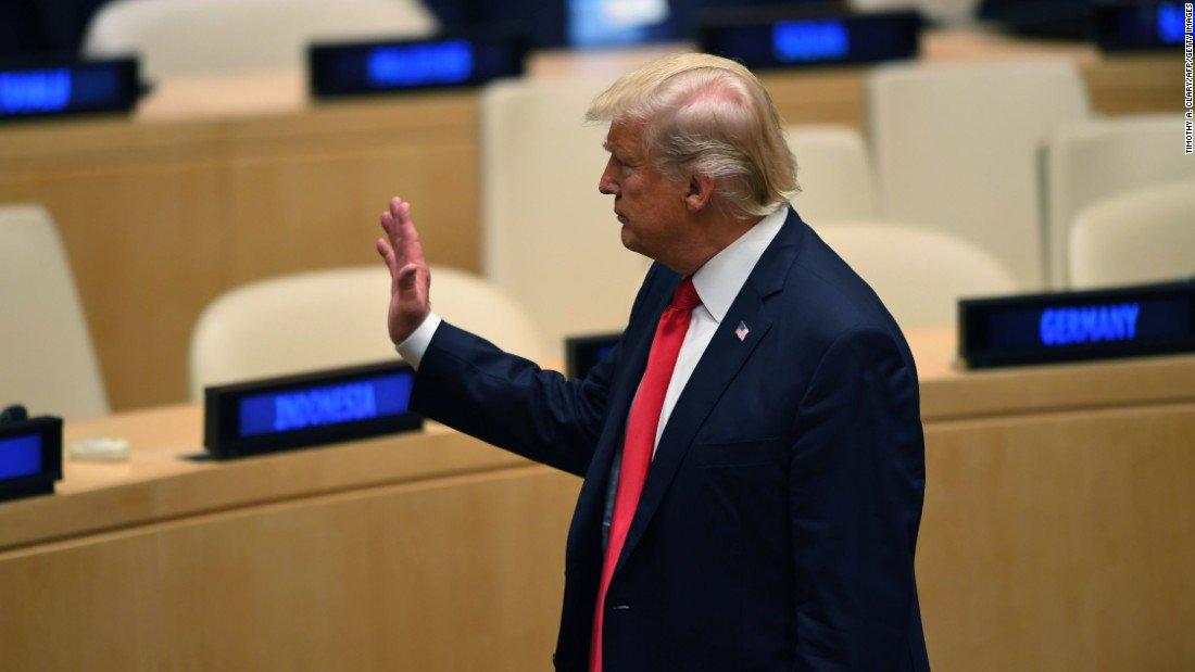 Resultado de imagem para trump at the united nations