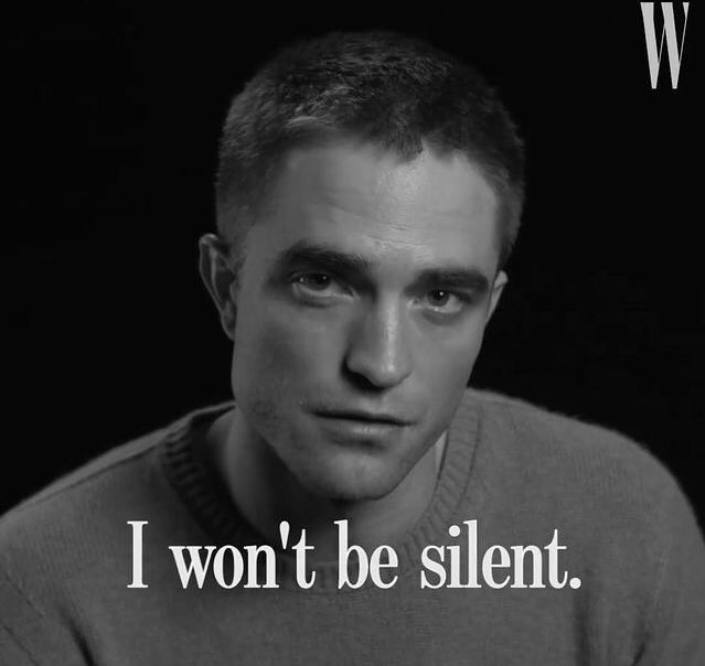 RT @larry411: #RobertPattinson joins the real men who speak out against sexual violence. https://t.co/2MHTaFLLIP