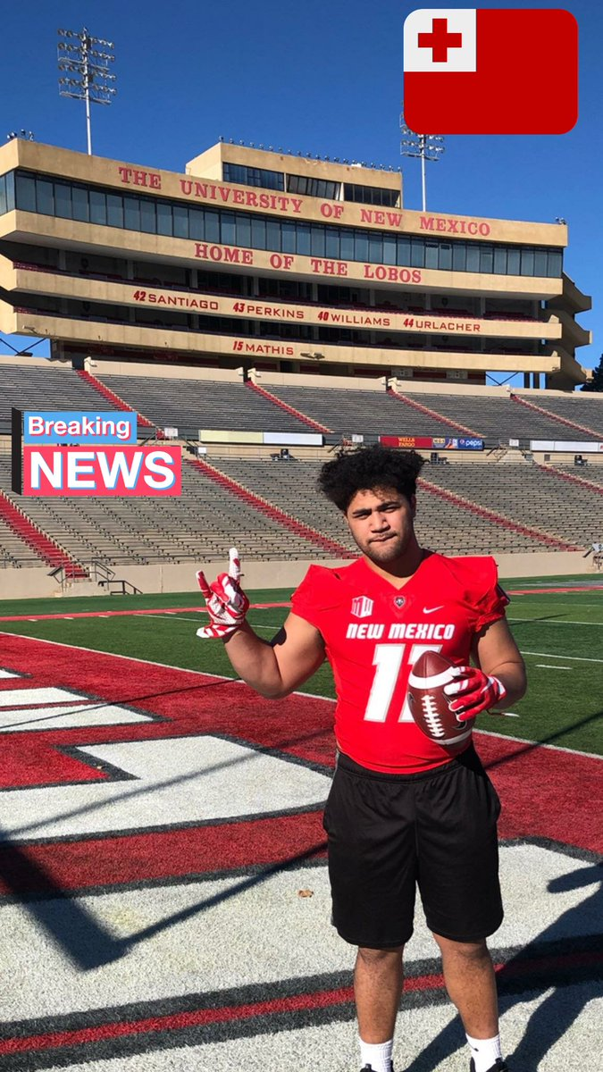 Congratulations to My Linebacker Mo Vainikolo on his commitment to the University of New Mexico. Love you Boi, go play fast and physical. God bless this next chapter of your journey. #LBs @Avainikolo53