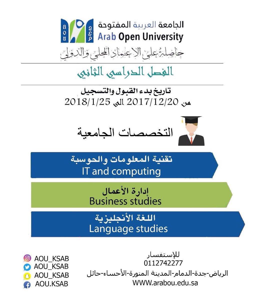 O Xrhsths الجامعة العربية المفتوحة Sto Twitter سداد رسوم التسجيل الدراسية عن طريق بنك الرياض