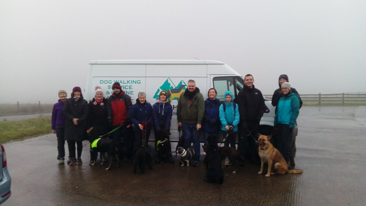 Great walk with @hikerhoundsni on Divis Mountain. No view but great craic