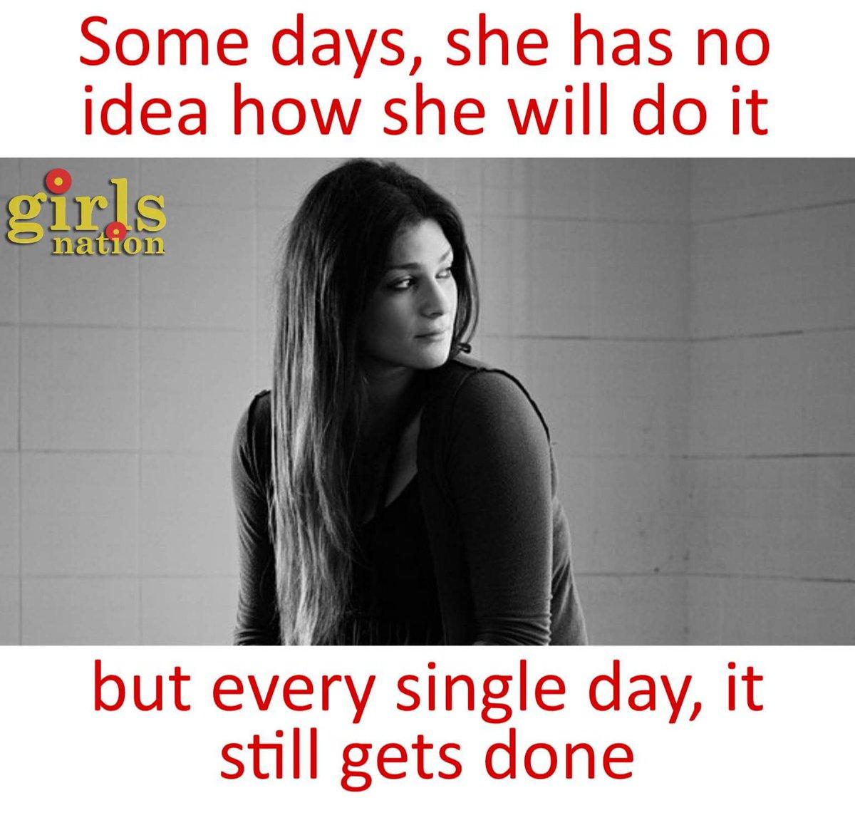 RT @GirlsNation_In: Because she is strong!! #SundayMotivation https://t.co/9TTU1RGEaX