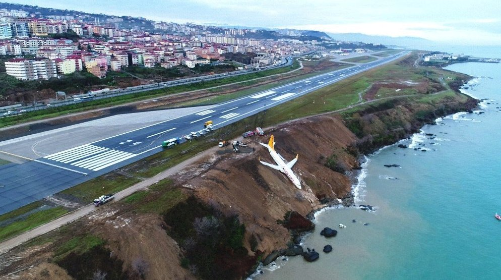 New daylight photos released of Pegasus flight PC8622 accident at Trabzon Airport, Turkey