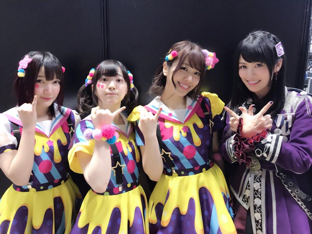 「ガルパーティ&ガルパライブ!in東京」二日感ありがとうございました!☺️ライブ終了後の4名をパシャリ!✨ポーズにもご注目!!😍💓 #バンドリ #ガルパ #ガルパーティ