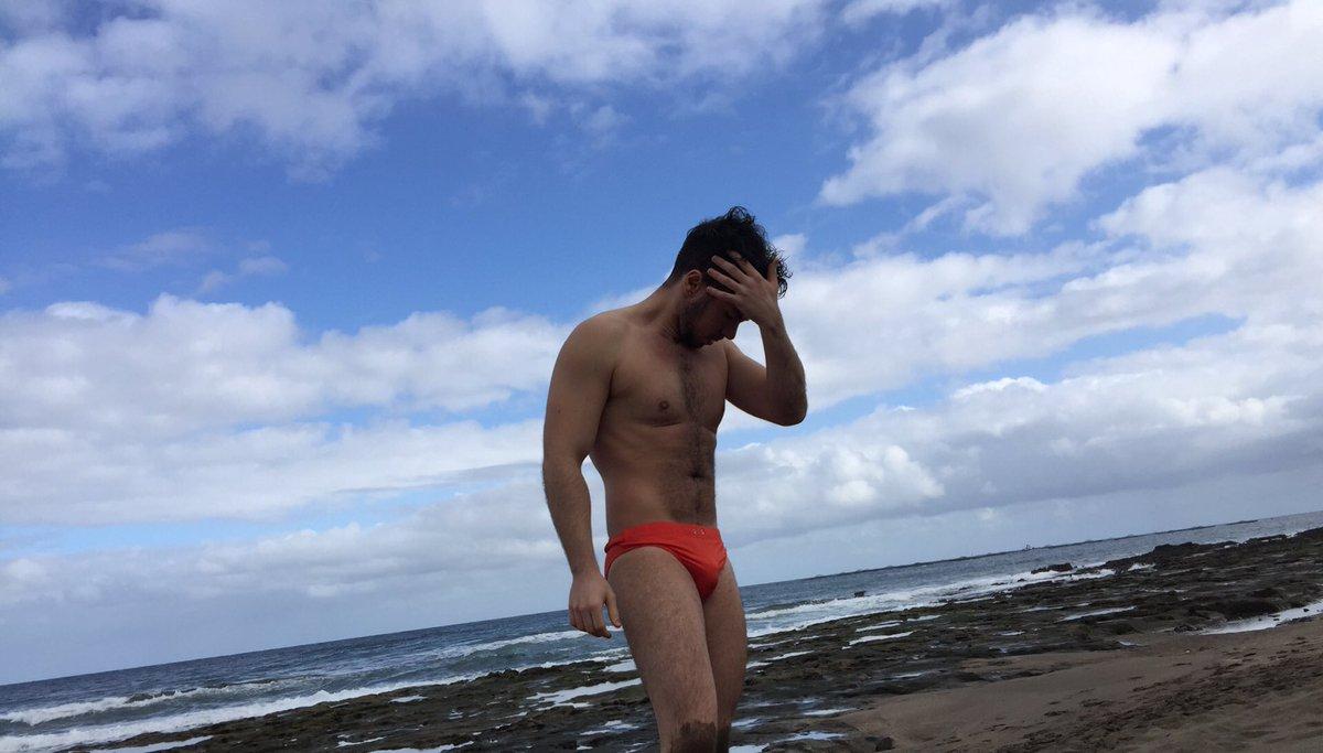 Me he bañado en la playa en el mes de en...
