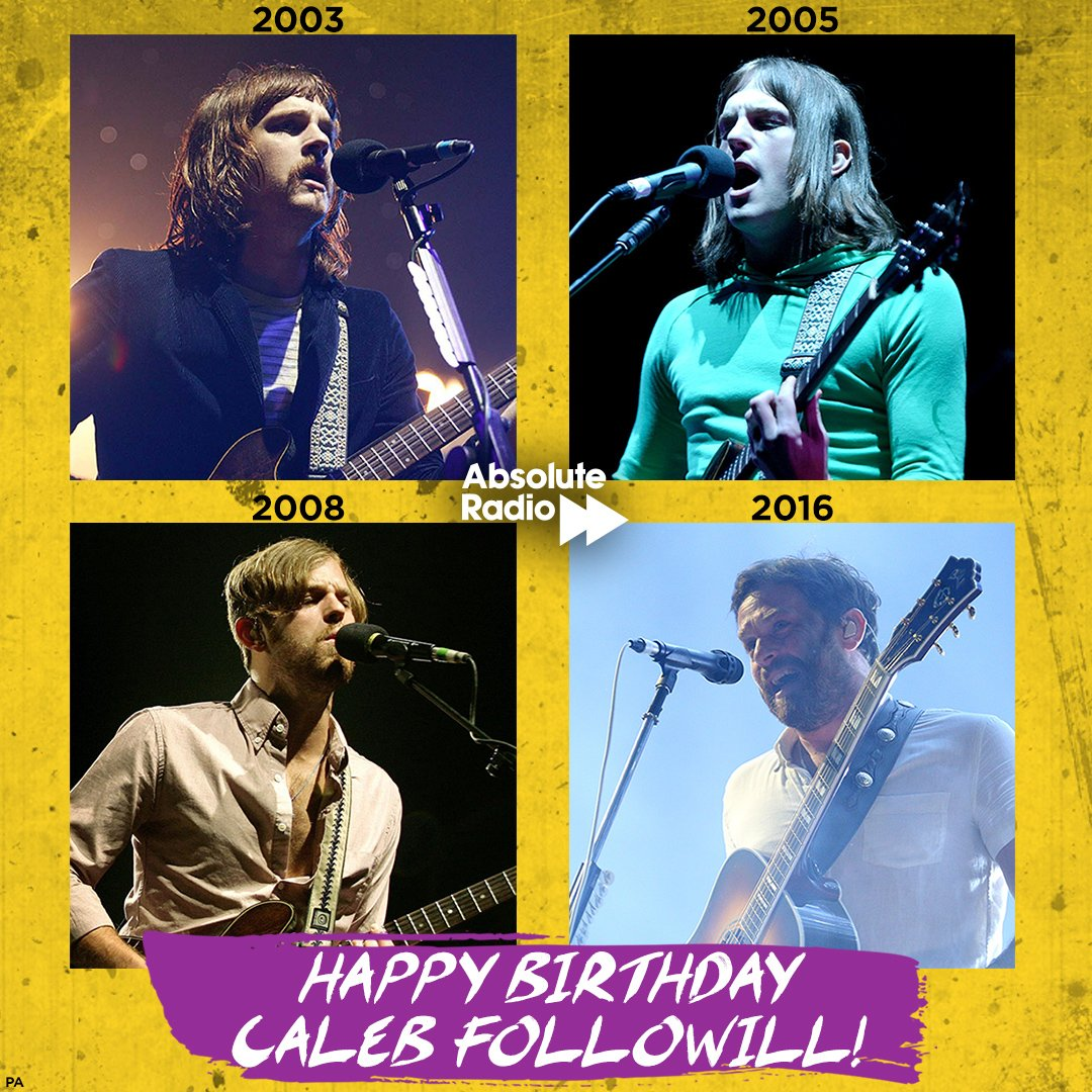 Happy birthday to Caleb Followill of One man, many hairstyles...