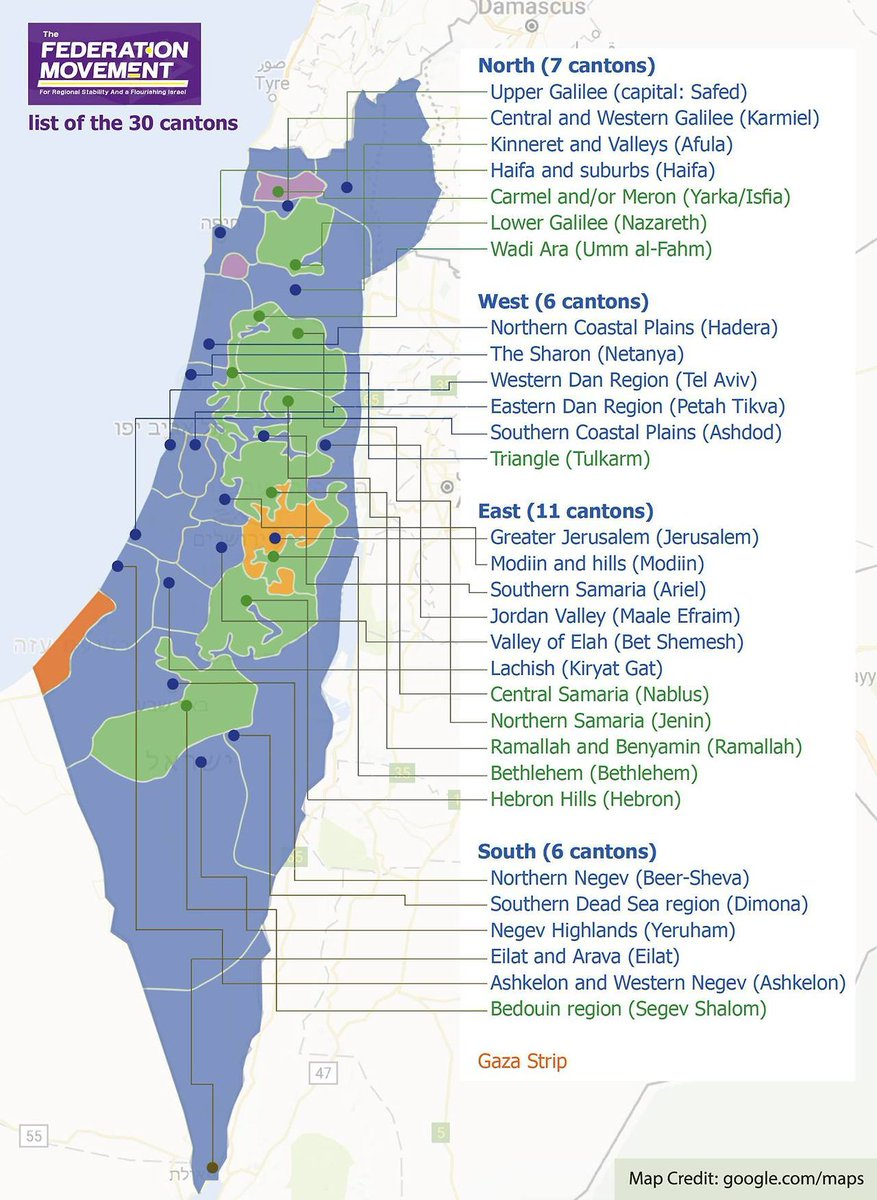 OnlMaps on Twitter Map of proposed IsraeliPalestinian federation