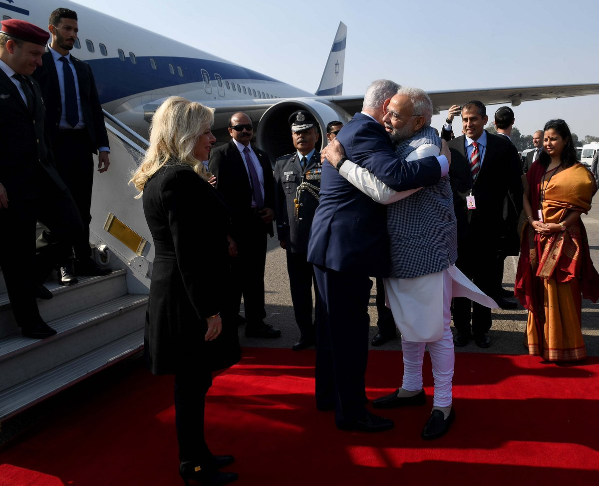My first visit to India, a world power that is strengthening its relations with Israel. I am excited about this historic week that will further strengthen Israel's international standing. 🇮🇱🇮🇳