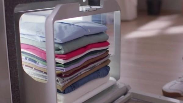 Una máquina que dobla toda la ropa de la...