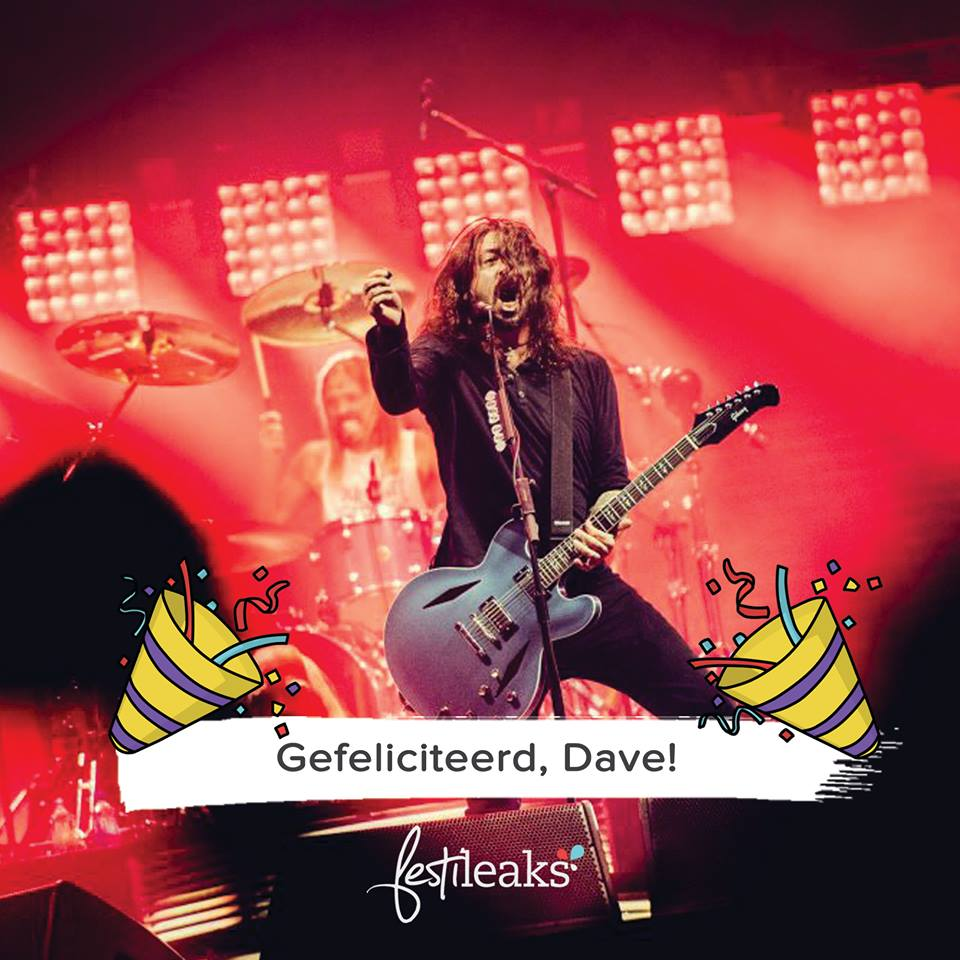 Happy birthday Dave Grohl! Tot op Pinkpop