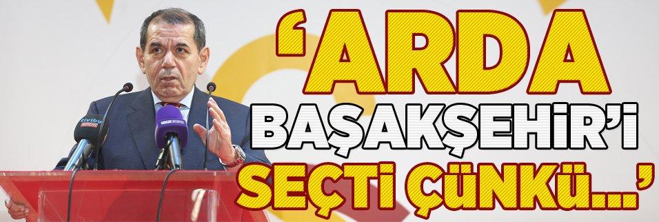 Dursun Özbek: ''Arda ekonomik sebepler nedeni ile Başakşehir'i tercih etmiştir''