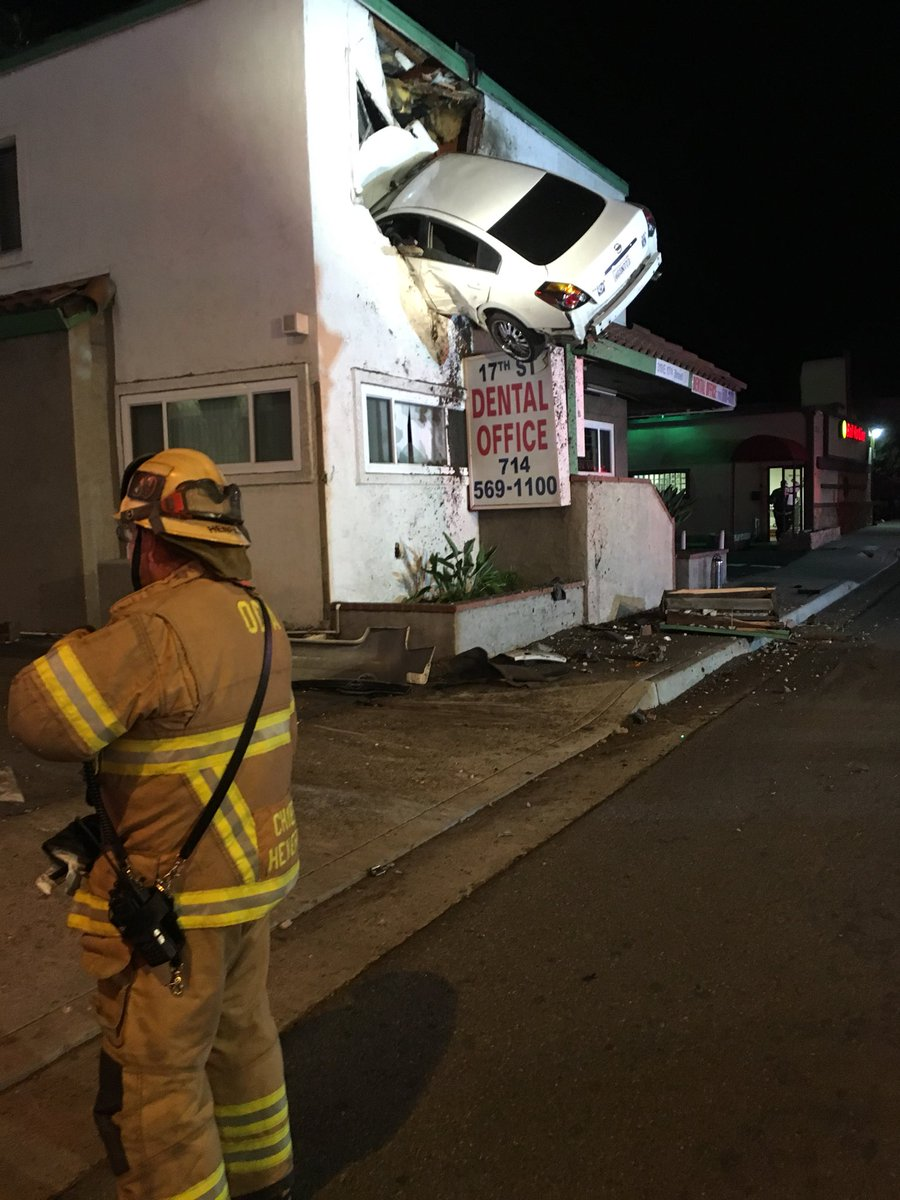 Car crash santa ana
