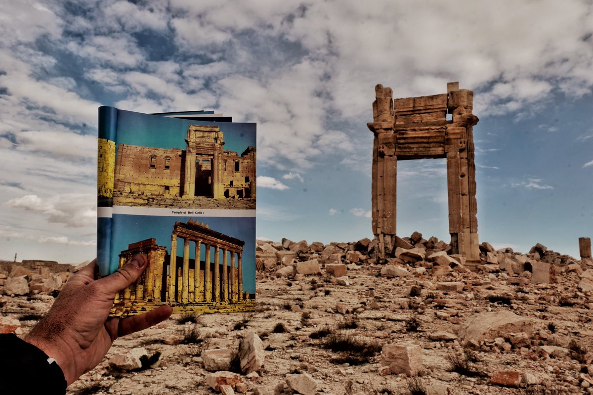 """Levison Wood on Twitter: """"Temple of Baal, Palmyra. Before and ..."""