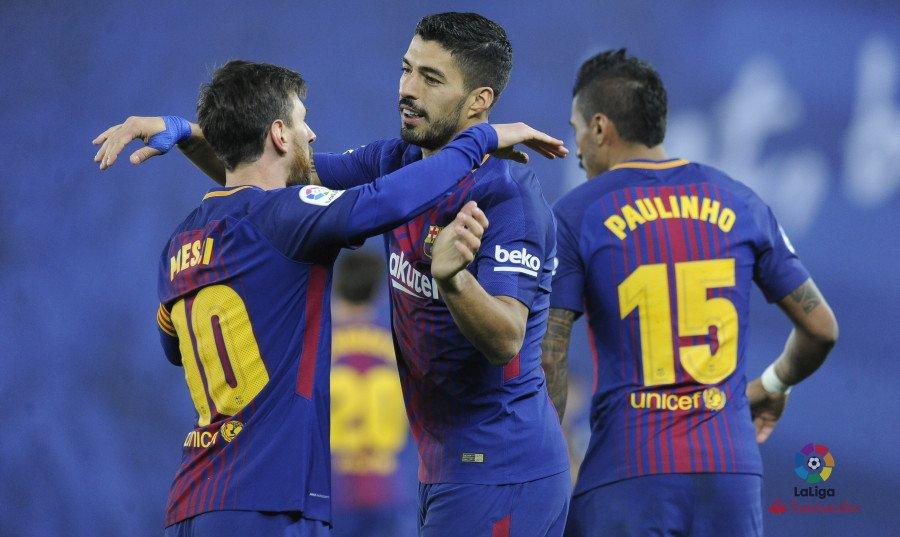 سواريز يسجل الهدف الثالث لبرشلونة