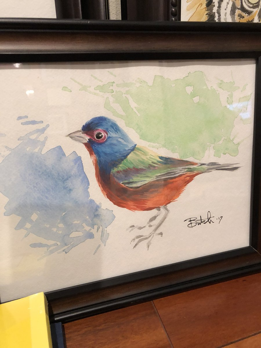 Painted a Painted Bunting. #Watercolor h...