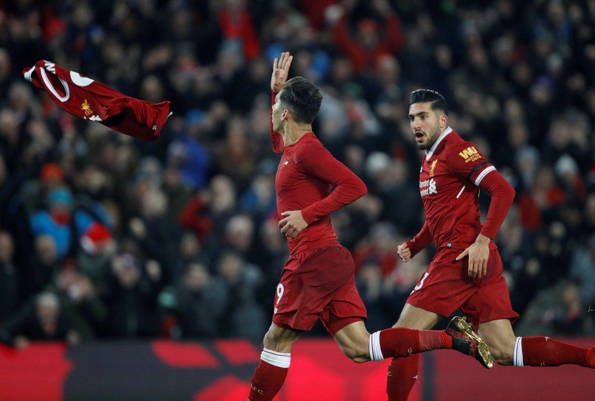 فيرمينيو يسجل الهدف الثاني لليفربول