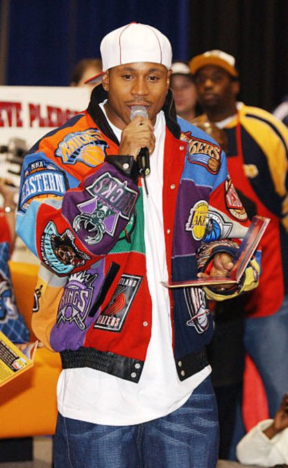 (2003) Happy birthday to LL Cool J!  Who remembers these NBA patched jackets?