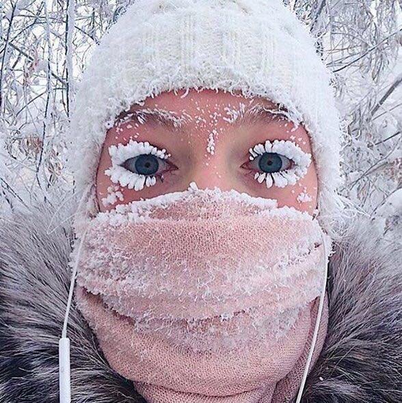 ياكوتسك بروسيا صباح اليوم ( - 53 ) درجة...
