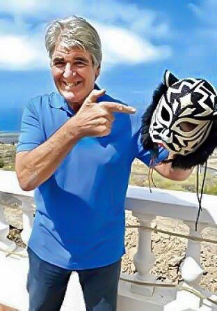 Mark 'Rollerball' Rocco with his Black Tiger Mask
