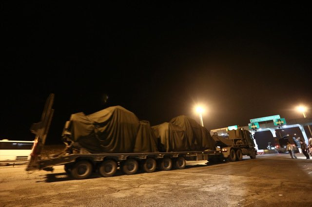 Turkey sends reinforcements to southern border as artillery units hit YPG positions in northern Syria after Turkish President Erdogan's speech