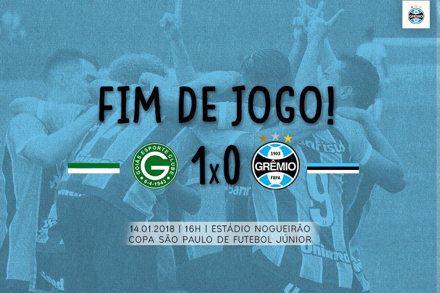 #BaseGremista Fim de jogo. Goiás 1x0 Grêmio #CopaSP2018