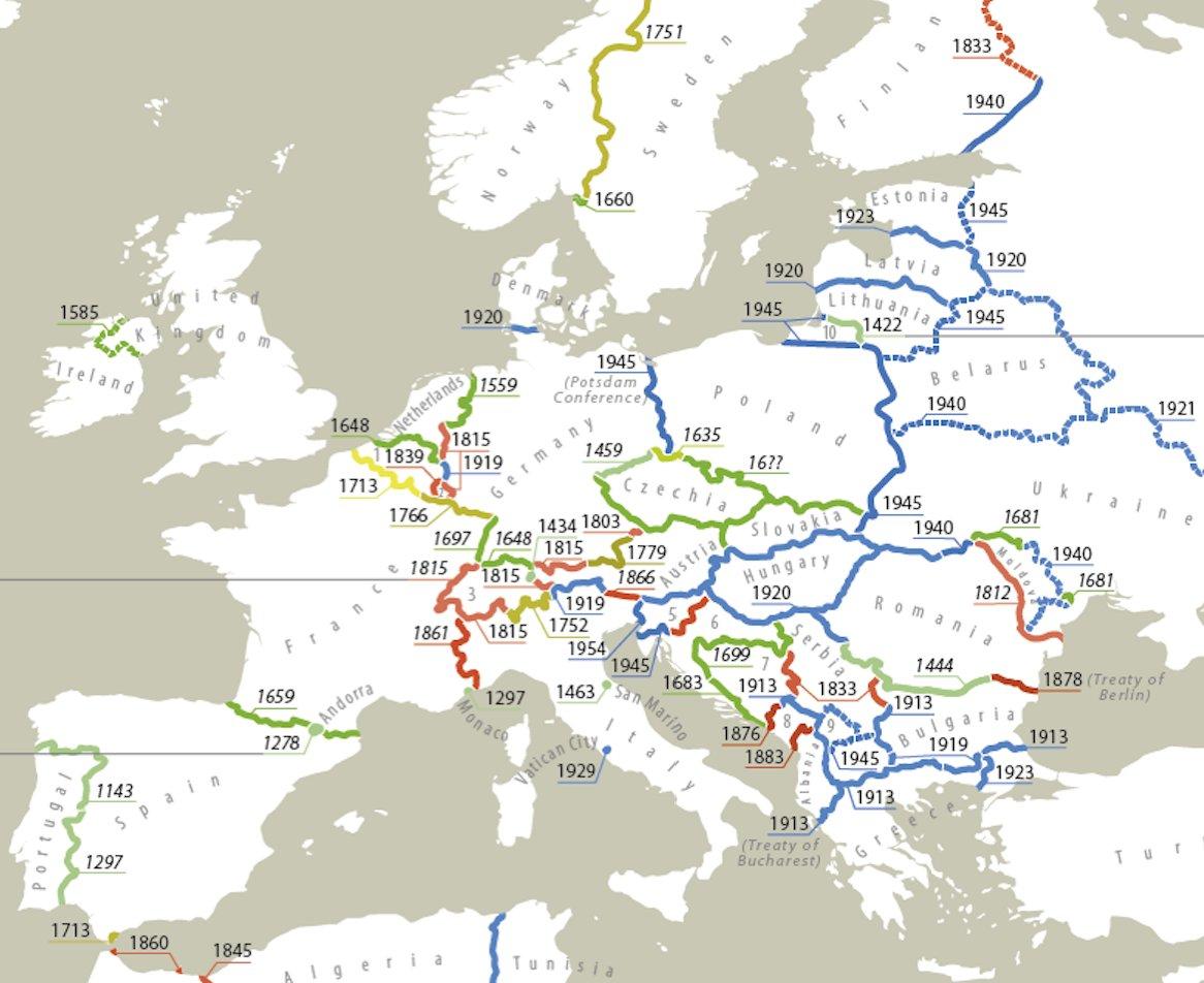Las dos fronteras más antiguas de Europa...