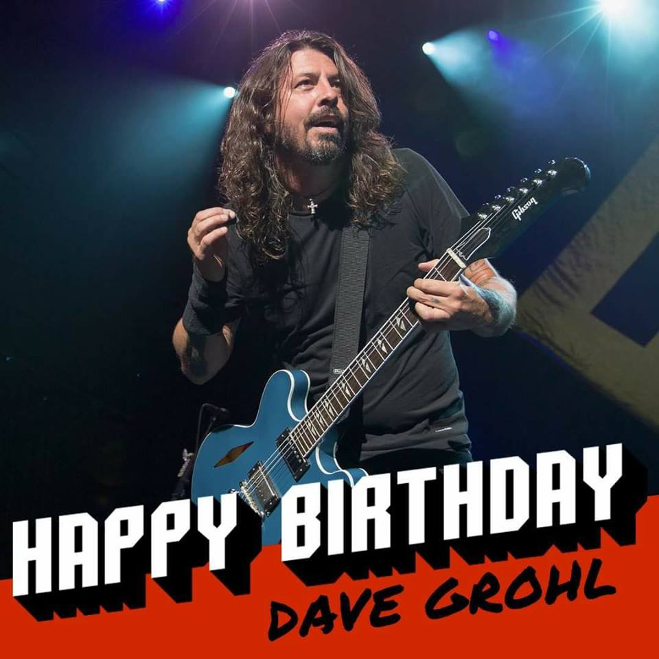 Dave Grohl is turning 49 today! Happy birthday!