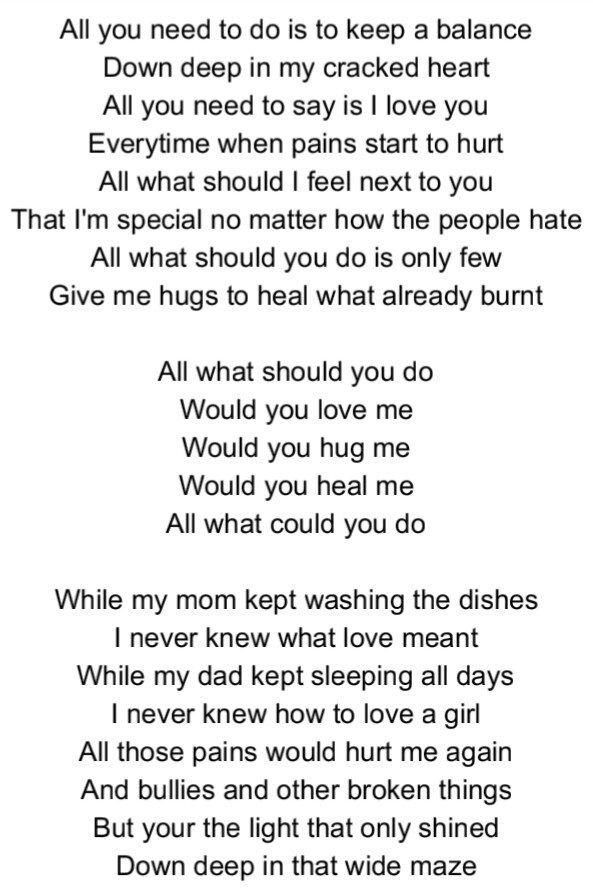 Song lyrics that say i love you
