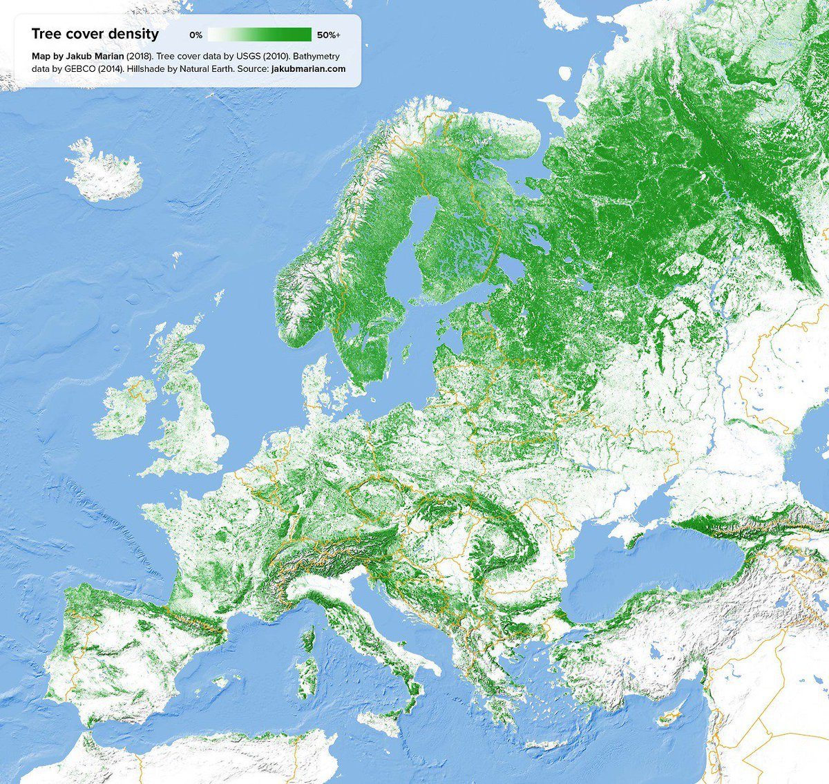 RT @PaulBanks84: Tree Cover Density of Europe. https://t.co/osaWpgvCG2 https://t.co/IaHdOXqWDx