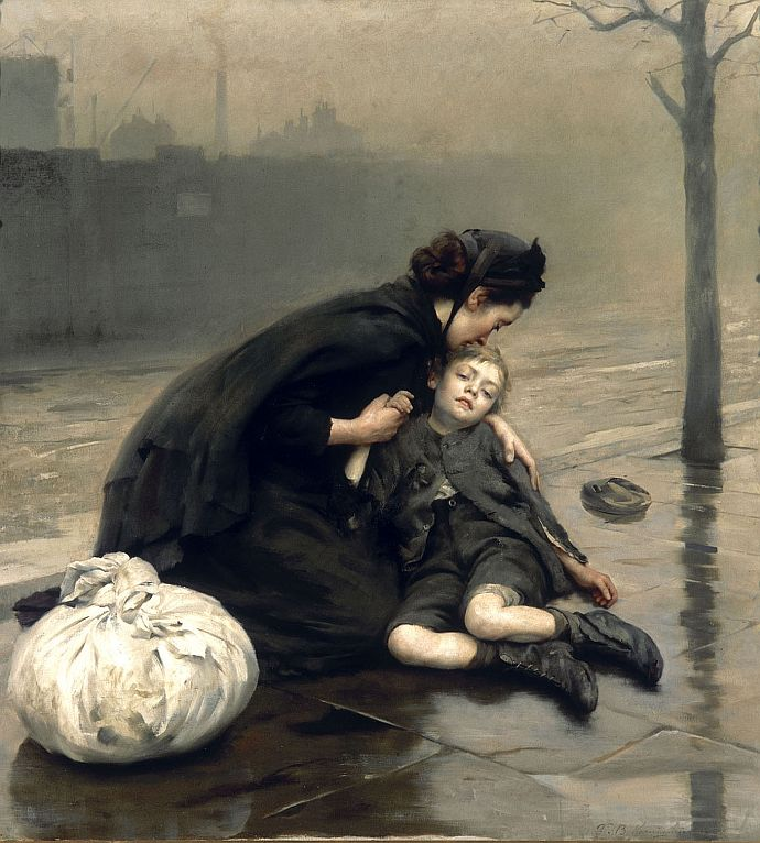 RT @longvictorian2: Homeless (1890) by Thomas Kennington (England, 1856-1916). #Art #Victorian https://t.co/7CUMmrU9iT