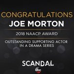 Congrats to @JOEtheMORTON for his #ImageAwards win...