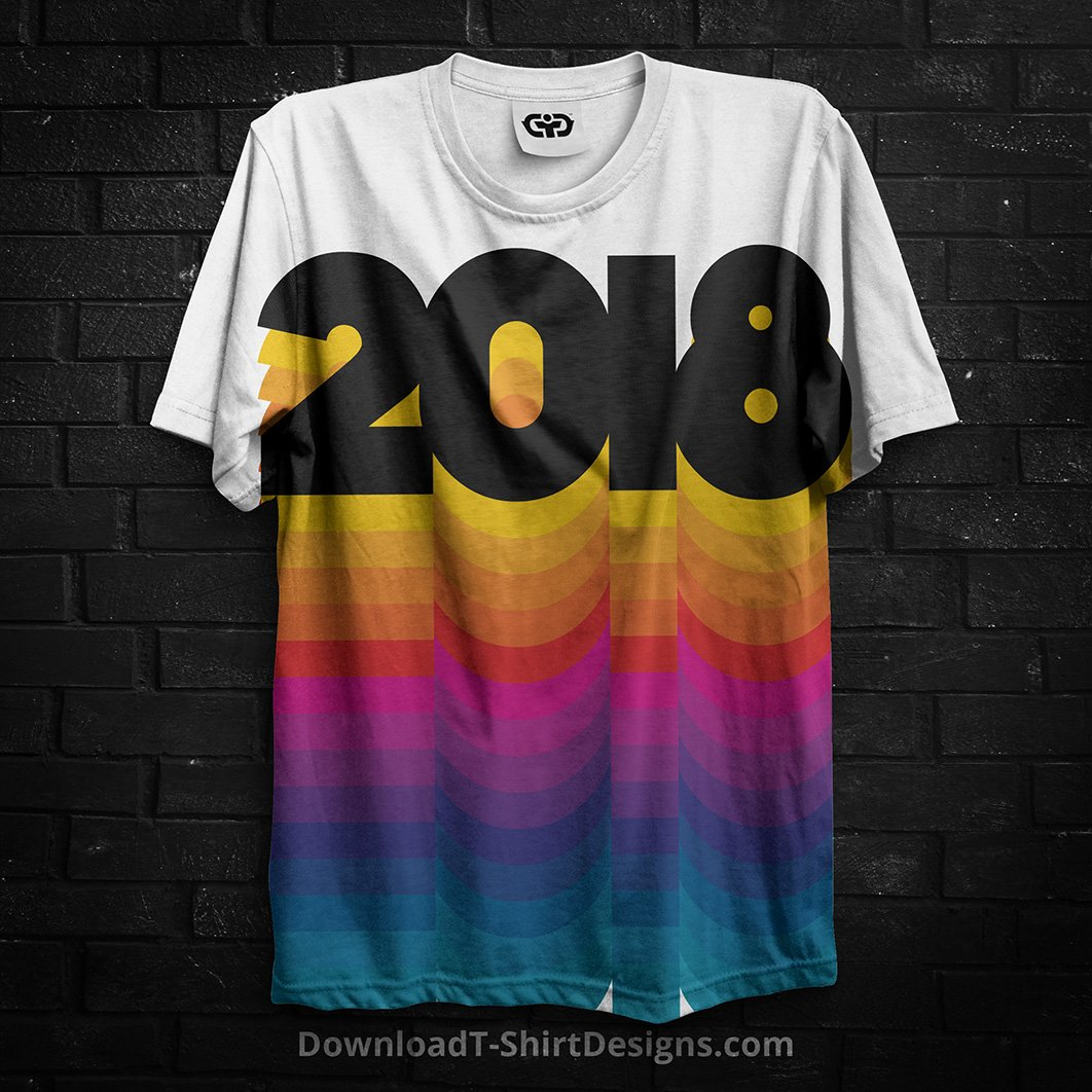f59a7ce3d Discover our top 7 T-Shirt design trend predictions which will be making an  impact in 2018. ...