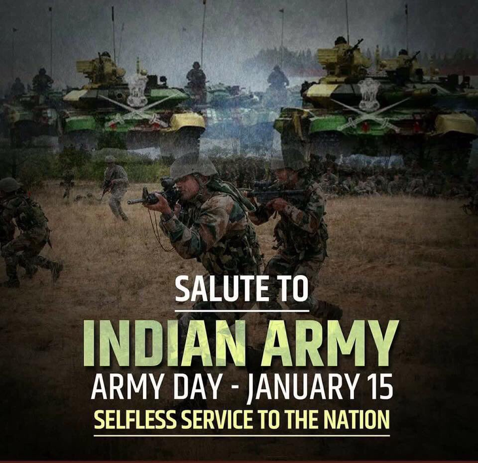 Salute to Indian Army Day - Jan15  IMAGES, GIF, ANIMATED GIF, WALLPAPER, STICKER FOR WHATSAPP & FACEBOOK