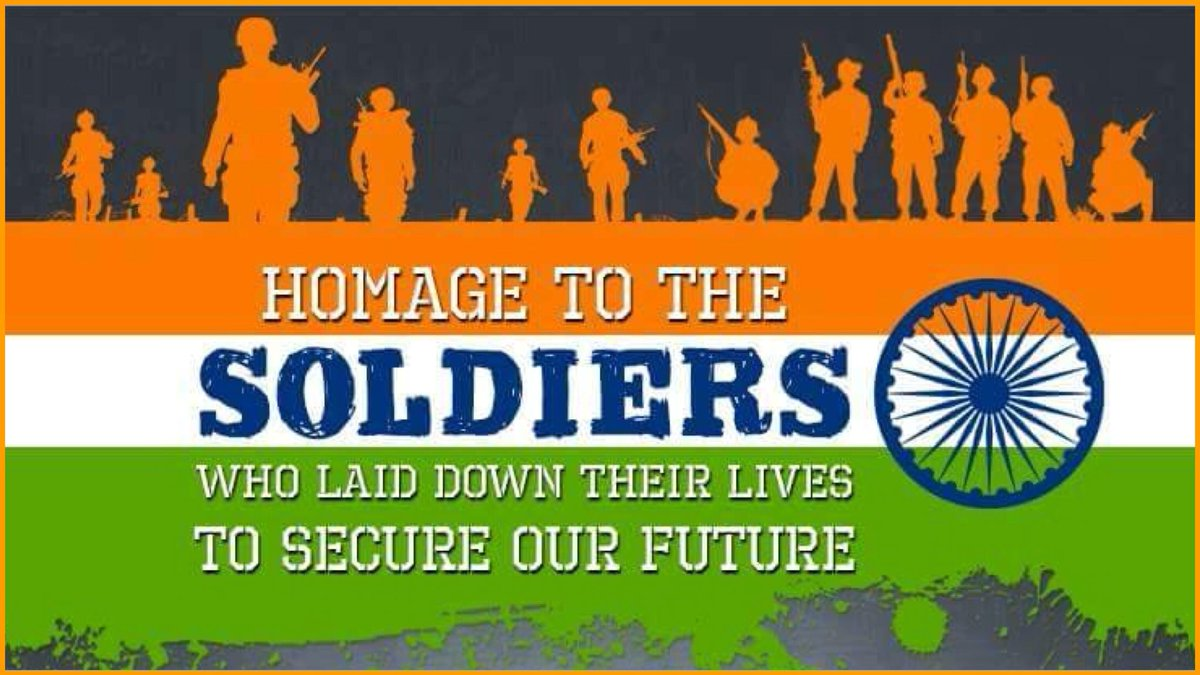 Homage to the Soldiers who laid down their lives to secure our future
