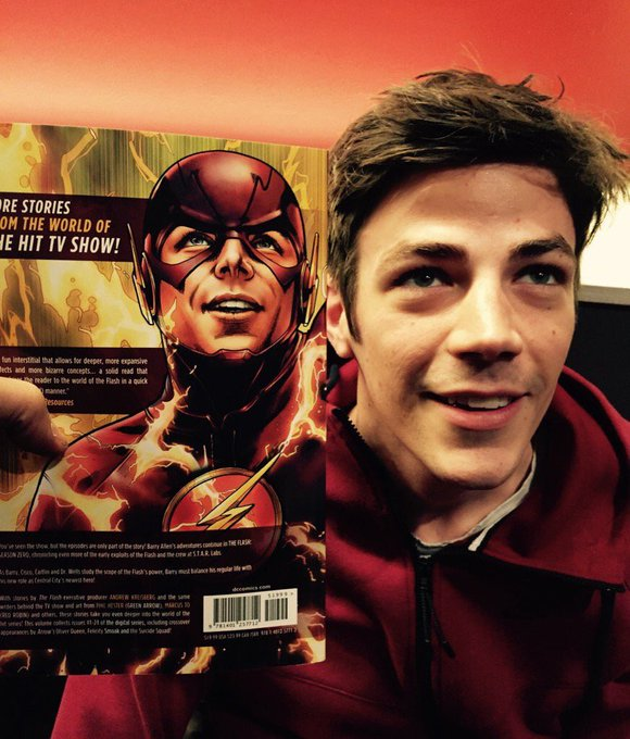 Happy birthday to my sweet baby boy grant gustin  i am so thankful for his portrayal of the flash
