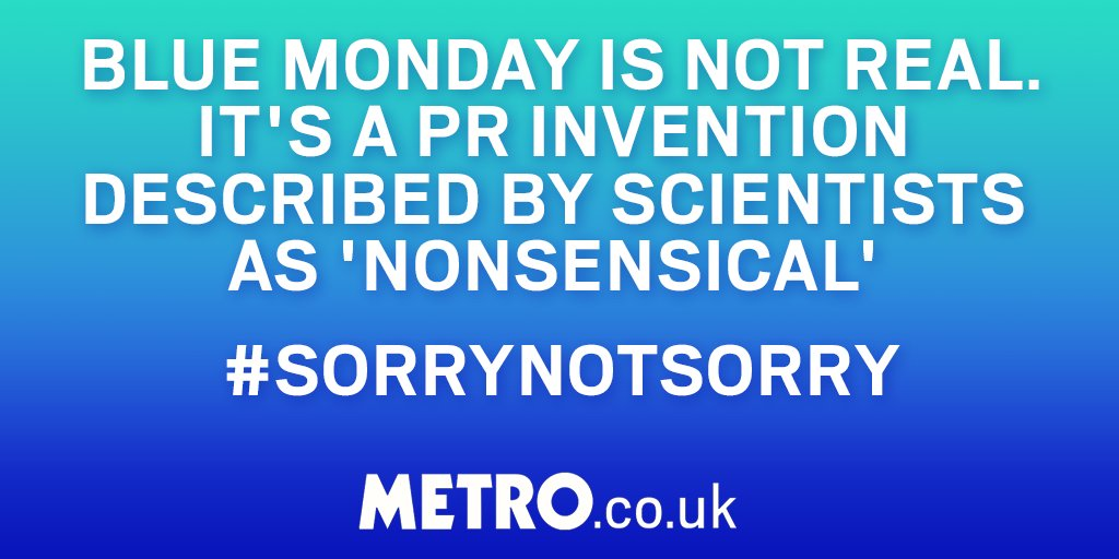 Don't fall for it #BlueMonday #SorryNotSorry