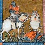 中世の絵画に出てくる馬がなんか可愛い正面から描かれている馬は珍しいかもw
