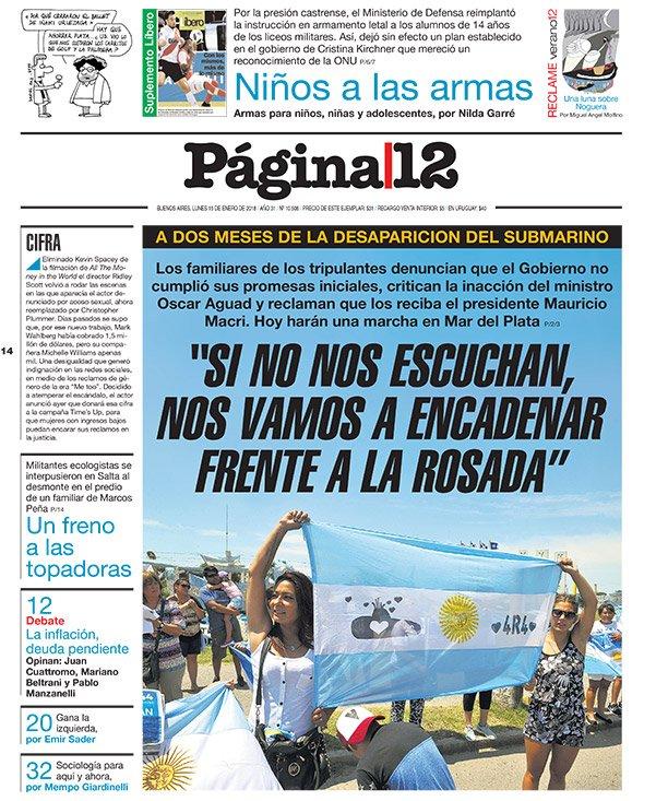 "RT @pagina12: Tapa | ""Macri nos tiene que escuchar""  https://t.co/B2YxHxXj03 https://t.co/n9aXZwgOcj"