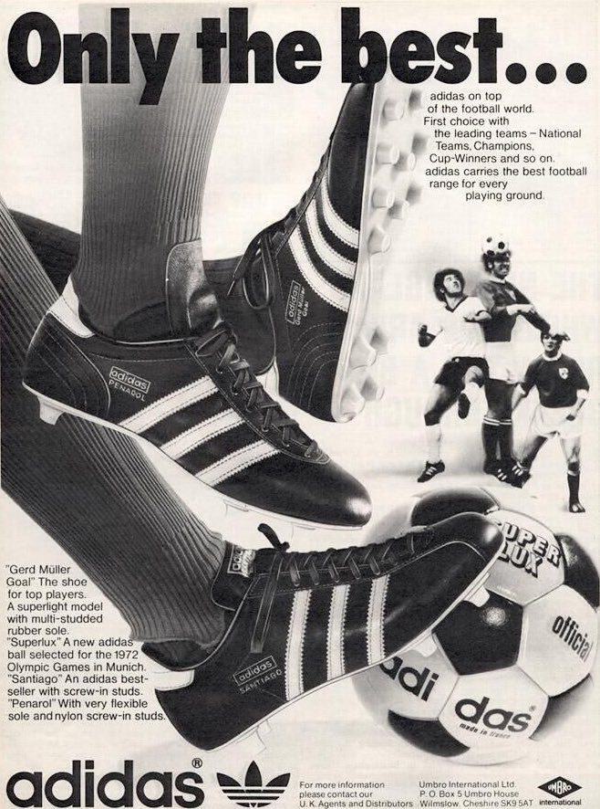 Football Memories On Twitter Advertisement For Adidas Ads Posters Adidas Footy