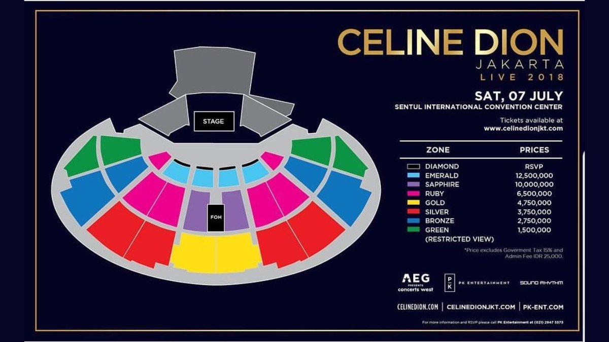 Harga Tiket Konser Celine Dion