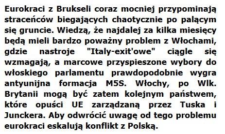 Straceńcy z UE, Tusk-rudy prusak i pijak...