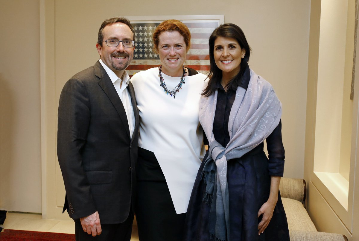 I was glad to welcome U.S. Ambassador to the UN Nikki Haley in #Kabul as she worked with counterparts to bring peace and security to #Afghanistan. @nikkihaley