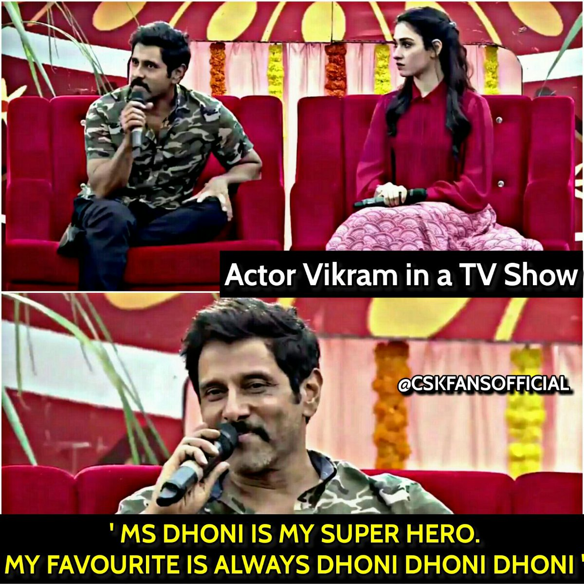 RT @CSKFansOfficial: Actor Vikram about Thala Dhoni in a TV show!💖😎 #WhistlePodu #SummerIsComing #CSK https://t.co/6r5S5GgAme