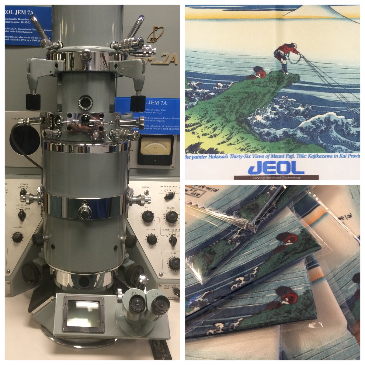 Here&#39;s our #vintage JEOL JEM-7A @JEOLEUROPE UK.  Post photos of your #vintageEM (any type/brand) for a chance to win an exclusive JEOL lens cloth #electronmicroscopy #sciart #science #MicroscopyMonday @JEOLUSA @JEOL_Japan<br>http://pic.twitter.com/bY3ahrjR2r
