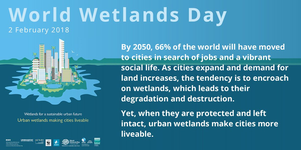 With rapid urbanization, #nature is becoming increasingly important in our cities.   Celebrate #WorldWetlandsDay  on 2 Feb & learn how #urban #wetlands make #cities more liveable here: https://t.co/Ni1Wzql4OT  #KeepUrbanWetlands