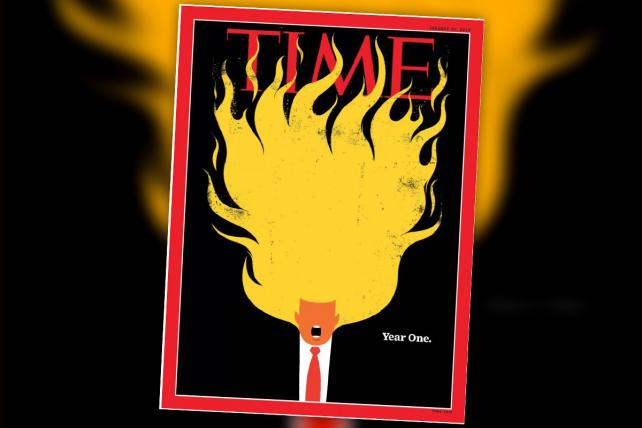 Time's new Trump cover is totally 🔥🔥🔥🔥 -- check out the animated version https://t.co/ZB45d65n2V https://t.co/WN22Ntp5IN