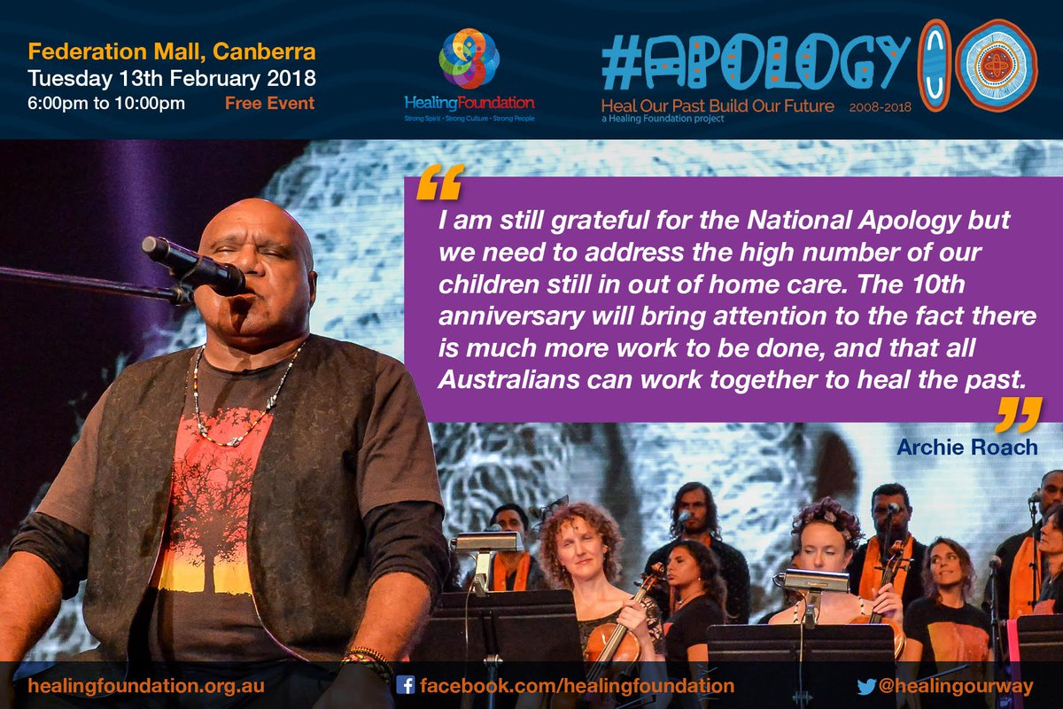 We commemorate the 10th anniversary of the Apology to the Stolen Generation and supports calls for renewed commitment to healing #Apology10 @HealingOurWay