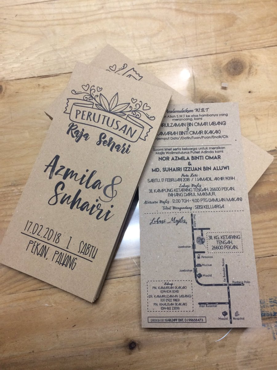 Noraizarazak On Twitter Kad Craft Paper Customade Design