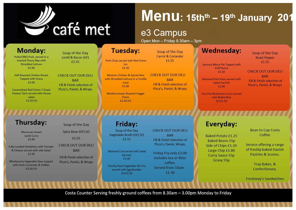 Cafe Met Belfast On Twitter E3 Café Met Menu Wc 150118