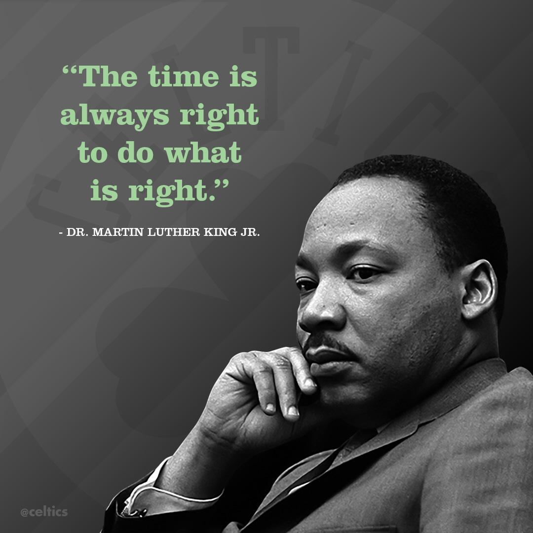 """""""The time is always right to do what is right."""" - Dr. Martin Luther King Jr. #IHaveADream #NBAVoices"""